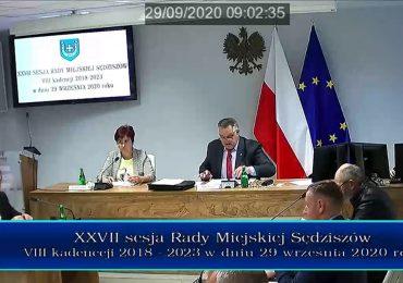 Nagranie sesji Rady Miejskiej Sędziszów