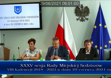 Nagranie sesji Rady Miejskiej Sędziszów - XXXV/2021